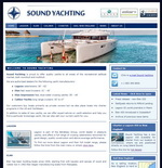 Sound Yachting website